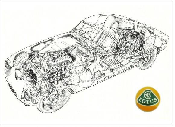 Lotus Elite Drawing